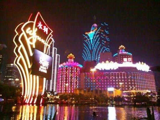 Hotel Lisboa Macau : ウィンホテルからの眺め