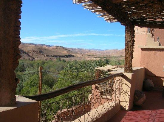 guest house Kasbah Ellouze: vue de la terrasse