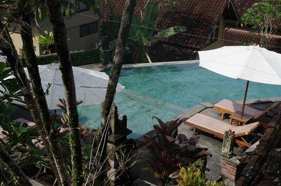 Jati 3 Bungalows: Pool von oben