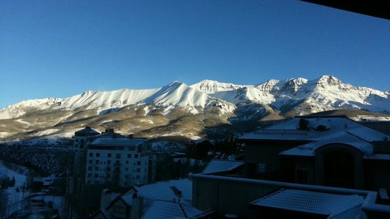 Madeline Hotel and Residences: View from room facing away from Telluride ski resort