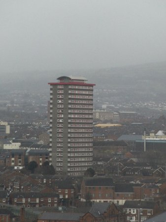 Europa Hotel - Belfast : Infamaous Divis flats from hotel