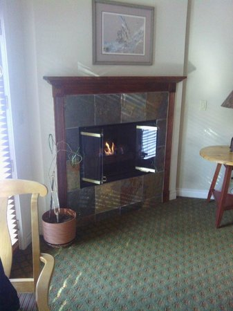 Pine Ridge Inn: Fireplace