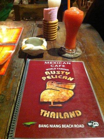Rusty Pelican: Menu