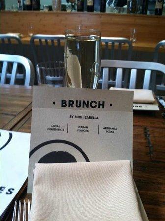 Graffiato: Brunch Menu and glass of Prosecco!