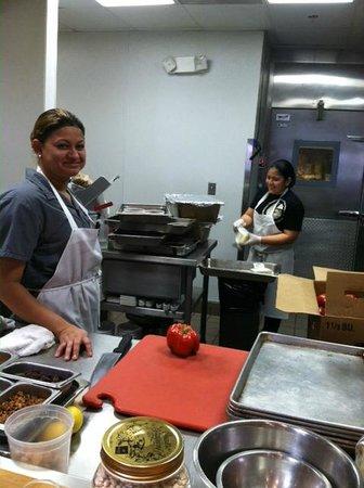Graffiato: Two ladies working in the smaller kitchen.