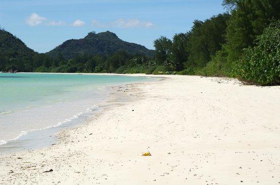 Acajou Beach Resort: вид на пляж отеля со стороны поселка