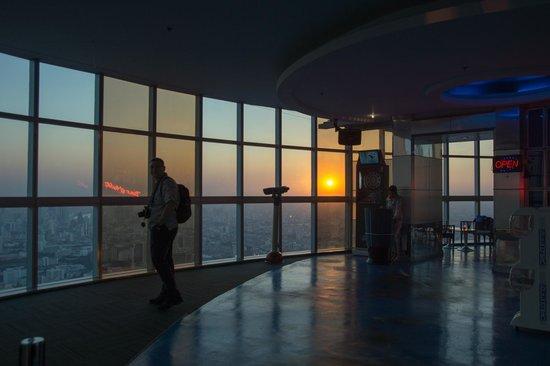Baiyoke Sky Hotel: The observation deck