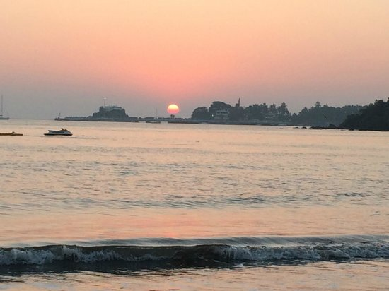 Dona Paula, Indien: Private beach view