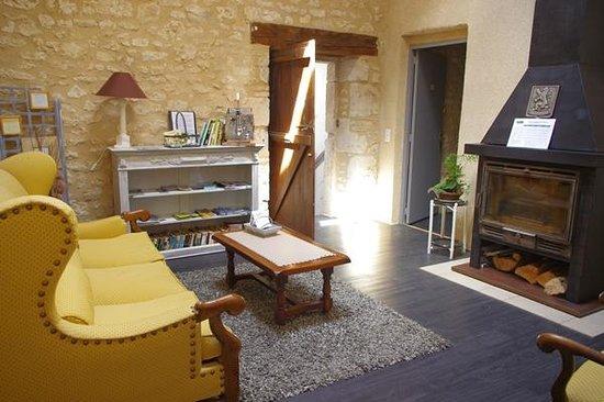 Le Moulin de Tauran : salon des chambres d'hôtes