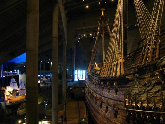 Vasa-Museum: Оригинал и уменьшенная модель