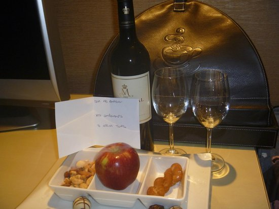 Southern Sun The Cullinan: This welcome gift was arranged by my safari planner.  NICE!