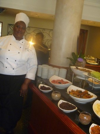 Southern Sun The Cullinan: This is the Head Chef in charge of the breakfast shift. Very nice and meticulous lady.