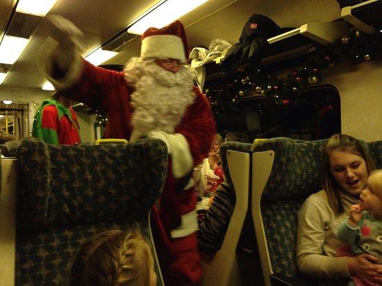 Weardale Railway: Santa coming on the train