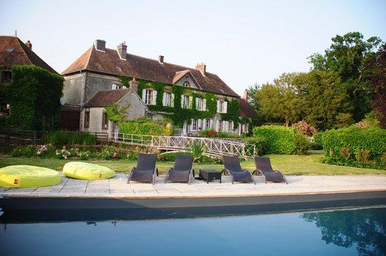 Eure-et-Loir, Frankrig: la piscine de grand maison à Meaucé