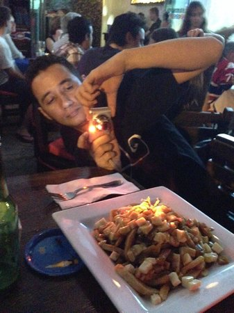 Los Tabernacos Sports Bar and Lounge: Poutine, immortalized