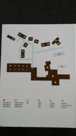 Hotel Aire de Bardenas : El plano del hotel