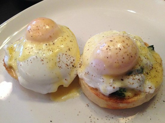 The Place : Eggs Florentine