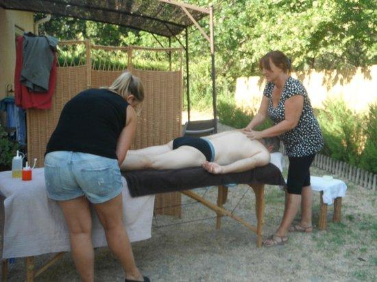 Les Rouvieres : séjour Bien être massage en extérieur
