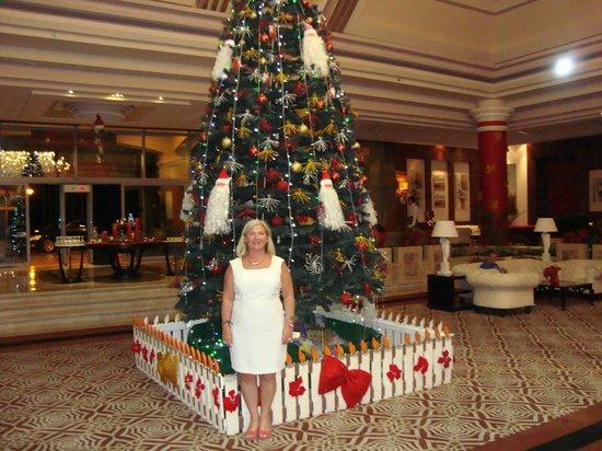 Rixos Sharm El Sheikh : kerstboom in prachtige lobby