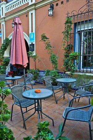 Hostal San Vicente II: Terraza