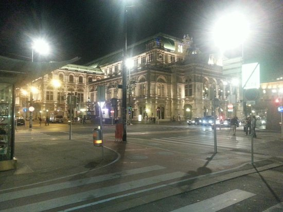 View just outside Le Meridien Vienna
