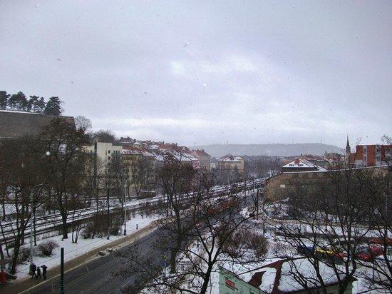 Hotel Union Prague: Вид на Вышеград и Прагу