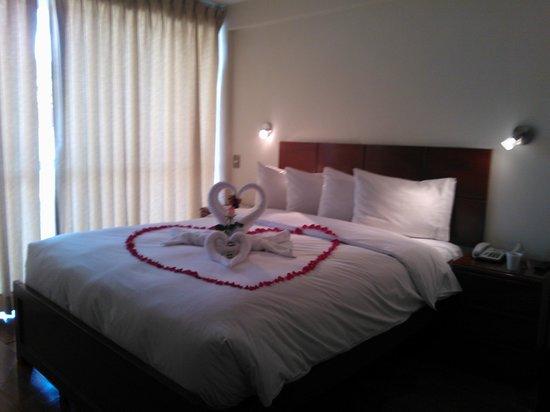 Hotel Golden Inca : Asi merito nos recibieron