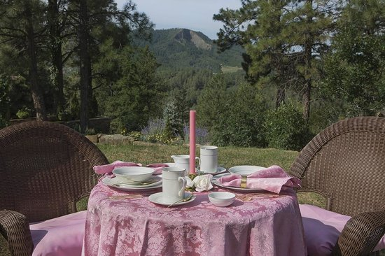Canyon Crest Lodge: Tea overlooking the Canyon