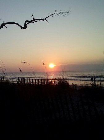 Hunting Island State Park Campground: Sunrise 9/2/13 from site #5