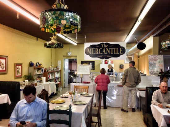 The Mercantile : Just ahead is where you order your plate.