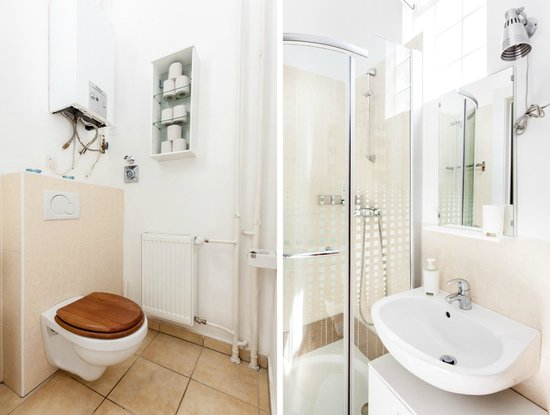 Budapestay Apartments : Bathroom with shower