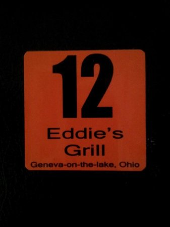 Eddie's Grill : Magnet made to look like order tickets.