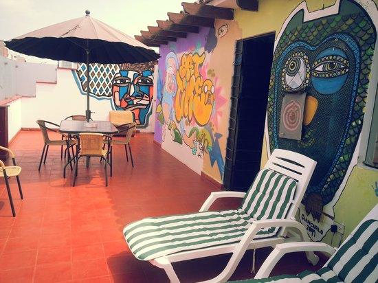 Cirque Hostel: la terraza!!