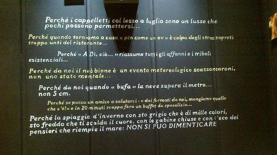 Le Scritte Sui Muri Picture Of Mariani Lifestyle Ravenna