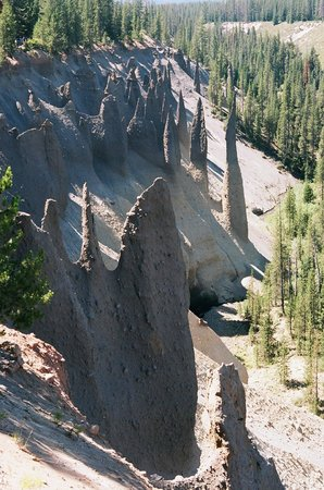 Pinnacles located a short drive from Crater Lake lodge
