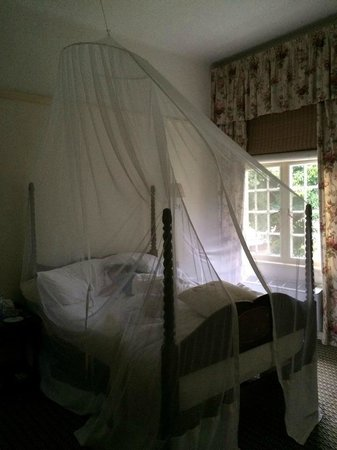 The Victoria Falls Hotel: The bedroom.