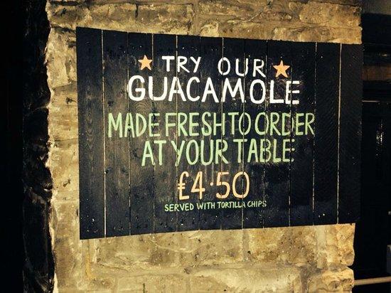 The Basement: Freshly made guacamole