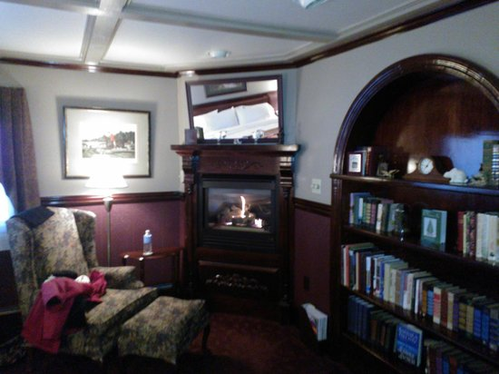 Rabbit Hill Inn : Fire place in room