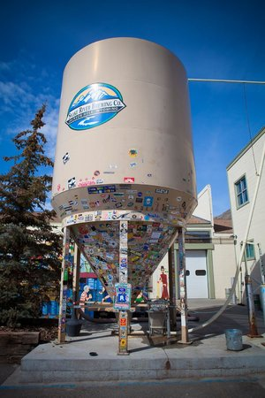 Snake River Brewing: Our endlessly stickered Silo