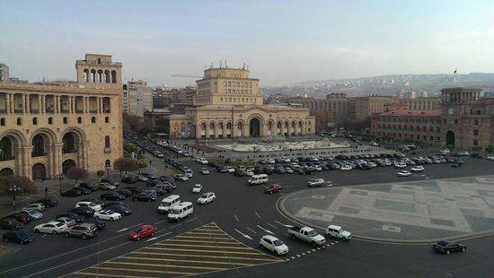 Armenia Marriott Hotel Yerevan: View from the balcony, executive lounge