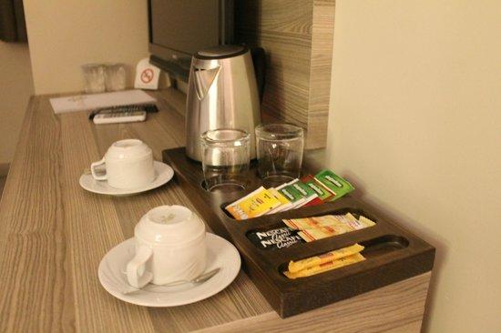Comfort Beige Hotel Istanbul Coffee Tea Set Up