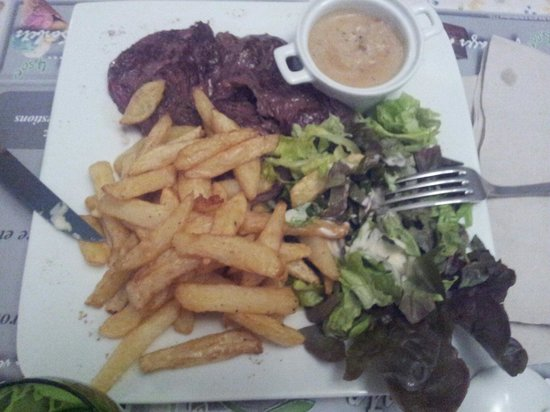 onglet de boeuf et frites maison picture of resto la terrine niort tripadvisor. Black Bedroom Furniture Sets. Home Design Ideas