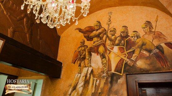 Affresco Sala Fumatori : Affresco foto di hostaria al gladiatore roma tripadvisor