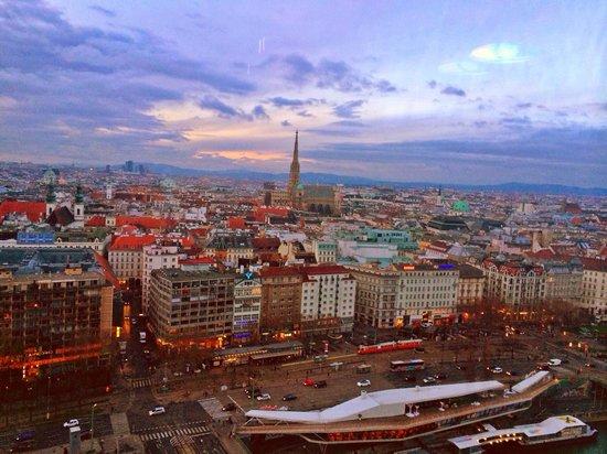 Sofitel Vienna Stephansdom: View from the roof top restaurant ... Amazin!!
