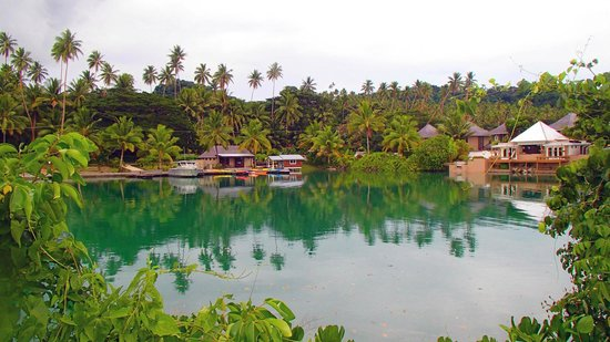 Koro Sun Resort and Rainforest Spa : Lagoon area on the hotel property