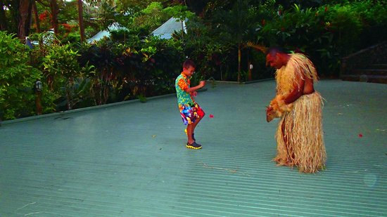 Koro Sun Resort and Rainforest Spa : Family play area at the resort