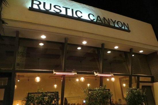 Rustic Canyon: the store front