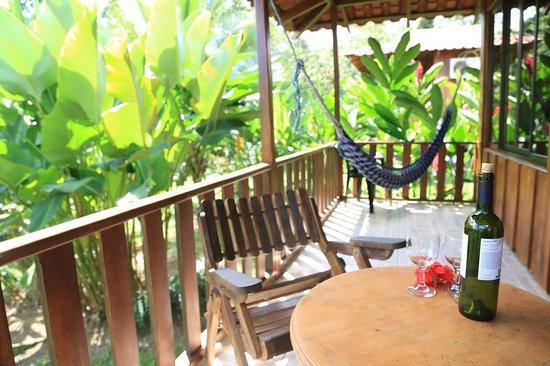 Hotel Rancho Cerro Azul: Back Porch