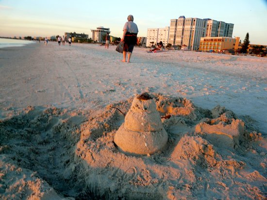 Plaza Beach Hotel - Beachfront Resort: Right in front of the hotel on the beach.  A beach snowman