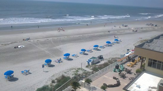 Tides Folly Beach: Oceanfront view from room
